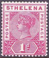 ST HELENA 1896 QV 1d Carmine SG47 MH - Saint Helena Island