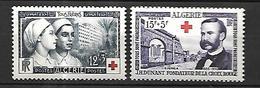 Algérie 1954 Croix - Rouge   Cat Yt N° 316 Et 317     N** MNH - Algérie (1924-1962)