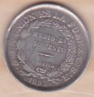 Bolivie . 50 Centavos 1895 PTS ES  , KM# 161.5 , En Argent - Bolivië