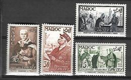 Maroc 1954  Centenaire De La Naissance De Lyautey    Cat Yt N° 335   à 338     N** MNH - Maroc (1891-1956)