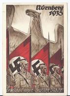 Dt- Reich (W00014) Propagandakarte, Nürnberg 1935, Deutsche Einheit- Deutsche Macht! Festpostkarte, Gelaufen Nürnberg - Deutschland