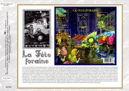 """"""" LA FETE FORAINE  """" Sur Feuillet CEF N°té En SOIE De 2009. N° 2019s. N° YT F4378. - Fêtes"""
