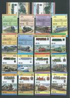 Nevis 1983 Leaders Of The World Trains Autos Monarchs Birds & Cricket Pairs Complete MNH / MLH - St.Kitts And Nevis ( 1983-...)