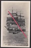 """Carte Photo Voilier Quatre Mats Barque """" Montmorency """" _ Compagnie Bordes _ Marine Marchande _ Navire, Bateau - Photographie"""