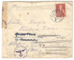 11367 - Avec Censure  Pour L'Allemagne - 1913-47 (Christian X)