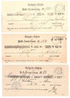 3 Aufgabescheine Kempten Und Muenchen 1871-74-79 - Bavaria