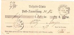 Aufgabeschein Muenchen 1875 - Bavaria