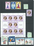 Nevis 1980 - 1989 Group Of 20 Sets Plus Odds & Miniature Sheets Mint , With Faults - St.Kitts And Nevis ( 1983-...)