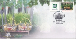 India  2018  Flowers  Orchids  Festival Of Nature  Mystamp  Ranchi  Special Cover  # 16110  D  Inde Indien - Orchideen