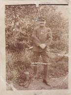 Photographie Sur Papier - Officier Avec Médailles - Régiment Non Identifié - Guerre 1914-1918 Soldat - Guerre, Militaire