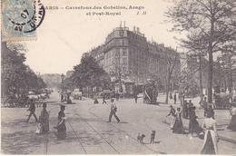BAD-  PARIS  CARREFOUR DES GOBELINS ARAGO ET PORT ROYAL  CPA  CIRCULEE - Distretto: 13