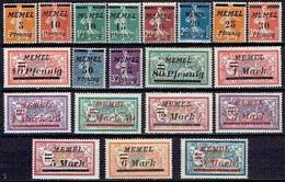 """MEMEL """" FROM 1922 STAMPWORLD 52-71* - Nuovi"""