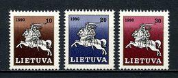 LITUANIE 1991  N° 398/400 ** Neufs MNH Superbes C 2.30 € Chevaux Horses Grand Duc Vitautas Animaux - Lituanie