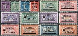 """MEMEL """" FROM 1922 STAMPWORLD 84-97* - Nuovi"""