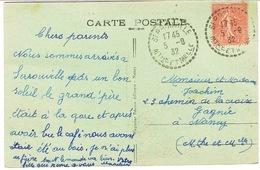 RECETTE DISTRIBUTION SEROUVILLE MEURTHE ET MOSELLE SUR CPA - Marcophilie (Lettres)