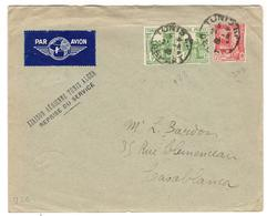 11414 - TUNIS ALGER  40 - Poste Aérienne