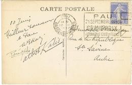 O.MEC FLIER PAU GRAND PRIX AUTOMOBILE CLUB DE FRANCE 1930 SUR CPA - Poststempel (Briefe)