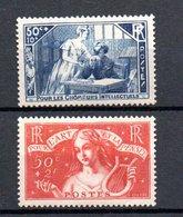 L France N° 307 + 308 ** Côte 112 Euros . A Saisir !!! - France