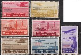 Tripolitaine (colonie Italienne) Poste Aérienne N°50 à 56 *, Cote: 275€ - Tripolitania