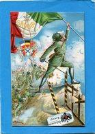 """ITALIA-+patriotique-attaque Des """"Bersaglieris-frontière Autrichienne-guerre 14-18""""SAVOIA"""" Illustrée Par Tallone - Guerra 1914-18"""