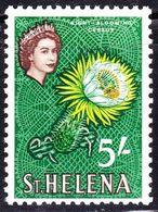 ST HELENA 1961 QEII 5/- Yellow, Brown & Green SG187 MH - Saint Helena Island