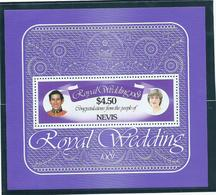 Nevis 1981 Charles & Diana Royal Wedding $4.50 Miniature Sheet MNH - St.Kitts And Nevis ( 1983-...)