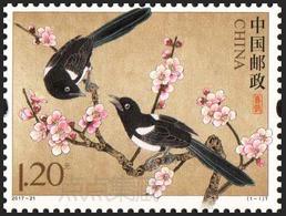 CHINA 2017-21 Birds The Magpies Stamps - Climbing Birds