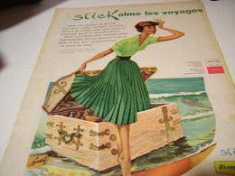 ANCIENNE PUBLICITE AIME LES VOYAGE TISSU STICK  TERGAL  1958 - Habits & Linge D'époque