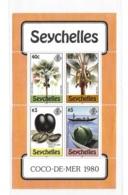 Seychelles 1980 Coco-de-mer Palm Tree S/S MNH - Seychelles (1976-...)