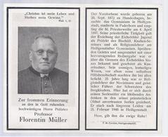 DP HERRN PRÄLATEN PROFESSOR MÜLLER ° HUNDESHAGEN 1872 HEILIGENSTADT PADERBORN BERGKLOSTERS + 1946 - Devotion Images