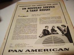 ANCIENNE PUBLICITE PAN AMERICAN EXPERIANCE  1958 - Publicités