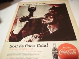 ANCIENNE PUBLICITE SOIF D AUTRE CHOSE SOIF DE  COCA COLA 1958 - Affiches