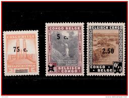 Congo 0225/27*  Parcs Nationaux -H- - 1923-44: Neufs