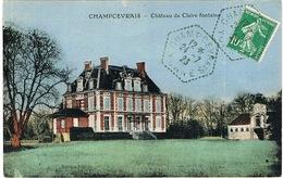 AGENCE POSTALE DE CHAMPCEVRAIS SUR CPA - Marcophilie (Lettres)