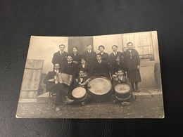 CARTE PHOTO Conscrits CHATILLON SUR CHALARONNE 1922 Orchestre - Châtillon-sur-Chalaronne