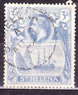 ST HELENA 1923 KGV 3d Bright Blue SG101 FU - Saint Helena Island