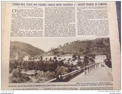 1932 TOUR DE FRANCE CYCLISTE - COL DE BRAUS - SOSPEL - LA TURBIE - MONACO - ESCARÈNE - DI PACO - GORGES DU VARS - Journaux - Quotidiens
