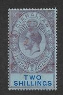 Gibraltar 1912,KG-V 2sh Scott # 72,VF Mint Hinged*OG (BL-II) - Gibraltar