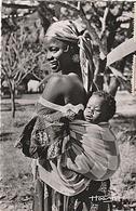 CPSM AFRIQUE EQUATORIALE FRANCAISE MERE ET ENFANT - Postcards