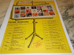 ANCIENNE PUBLICITE SUCCES DE DISQUE PATHE MARCONI  1958 - Affiches