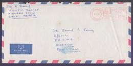 SAUDI ARABIA Postal History Cover, Meter Franking Used With Arabic Date, From DAMMAM - Arabie Saoudite