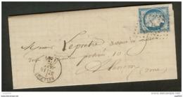 Orne-Lettre (La Chapelle Souëf)-Gros Chiffre Et Cachet Type 16 De Belleme-N°60 - Postmark Collection (Covers)