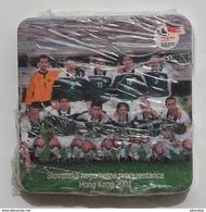 SLOVENIA Pivovarna Union Brewery BEER COASTER National Football Team 2002 Mats 6 X Unused , Packing - Beer Mats