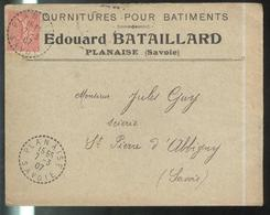 Marcophilie - Enveloppe Fournitures Pour Batiments - Edouard Bataillard - 1907 - 1877-1920: Période Semi Moderne