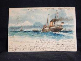Steamer Hamburg-Pacific Dampfer Bay Van Valparaiso -00__(21455) - Paquebote