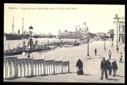 VENEZIA - Veduta Dal Ponte Della Paglia Verso S. Maria Della Salute - (Beau Plan Animé) - Venezia (Venice)