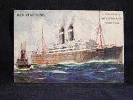 Steamer Red Star Line Westernland__(21349) - Paquebote