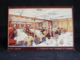 Steamer S.S. Accrington Dining Saloon__(21750) - Paquebote
