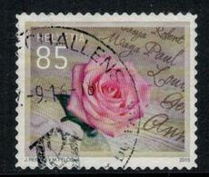 Suisse // Schweiz // Switzerland // 2010-2019 // 2015 Rose Oblitéré No.1563 - Switzerland