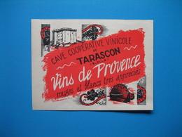 (1947) Cave Coopérative Vinicole De TARASCON (Bouches-du-Rhône) - Vins De Provence - Vieux Papiers
